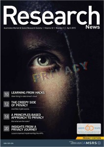 Research News, April 2015 Front Cover